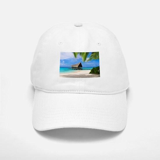 Beach And Bungalow Baseball Cap