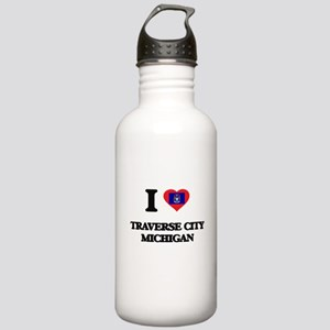 I love Traverse City M Stainless Water Bottle 1.0L