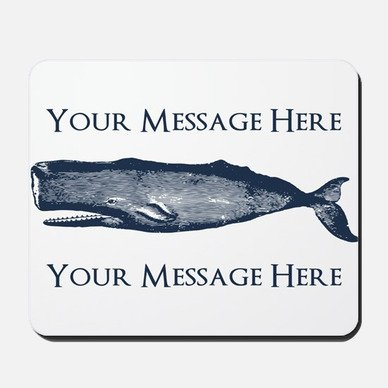 PERSONALIZED Vintage Whale Mousepad