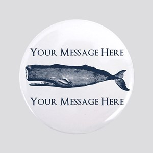 PERSONALIZED Vintage Whale Button