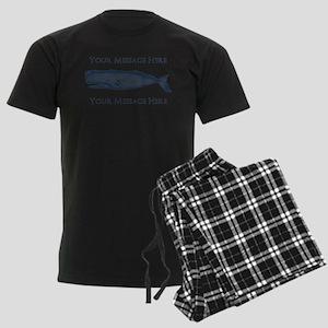 PERSONALIZED Vintage Whale Men's Dark Pajamas
