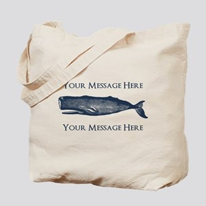 PERSONALIZED Vintage Whale Tote Bag