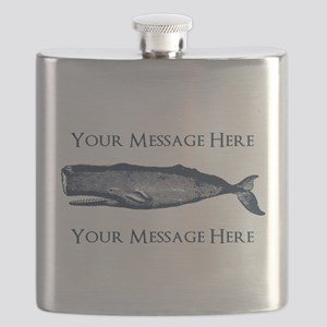 PERSONALIZED Vintage Whale Flask