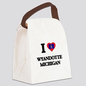 I love Wyandotte Michigan Canvas Lunch Bag