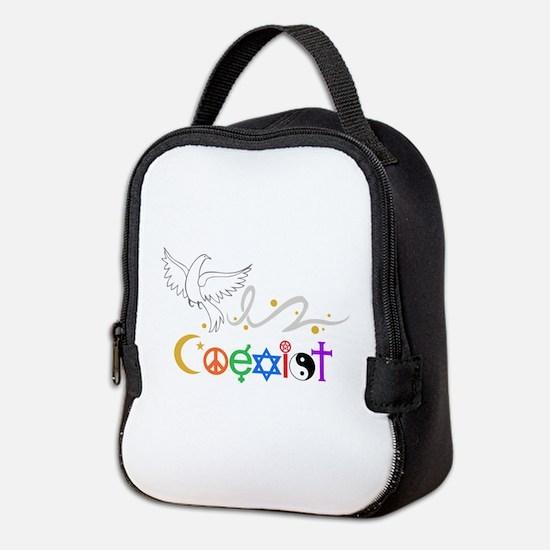COEXIST DOVE Neoprene Lunch Bag