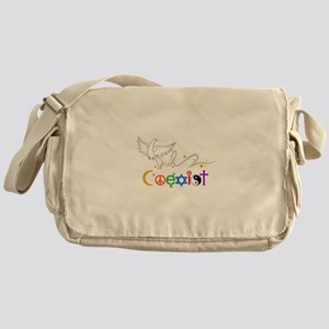 COEXIST DOVE Messenger Bag