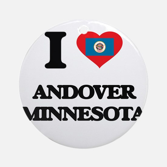I love Andover Minnesota Ornament (Round)