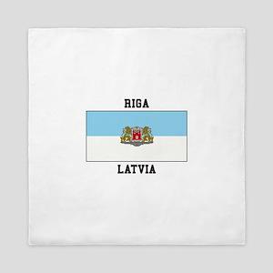 Riga, Latvia Queen Duvet