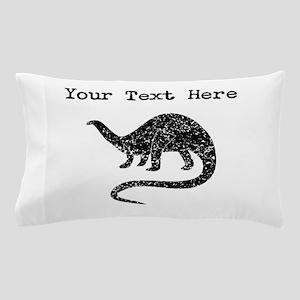 Distressed Brontosaurus Silhouette (Custom) Pillow