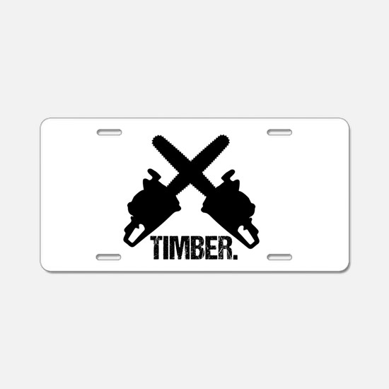 Chainsaws Aluminum License Plate