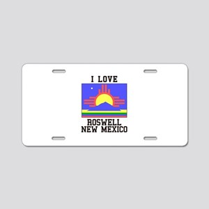 I Love Roswell, New Mexico Aluminum License Plate
