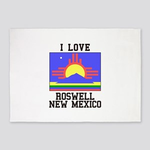 I Love Roswell, New Mexico 5'x7'Area Rug