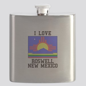 I Love Roswell, New Mexico Flask