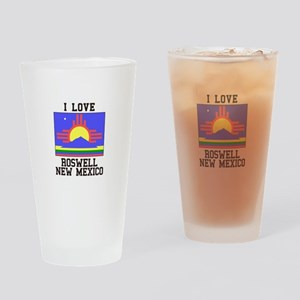 I Love Roswell, New Mexico Drinking Glass