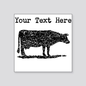 Distressed Cow Silhouette (Custom) Sticker