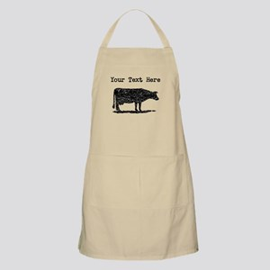 Distressed Cow Silhouette (Custom) Apron