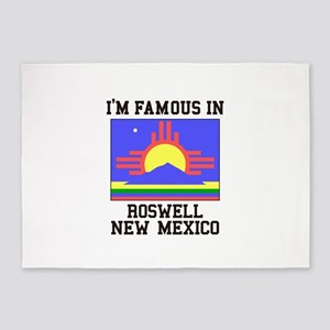 I'm Famous in Roswell, New Mexico 5'x7'Area Rug