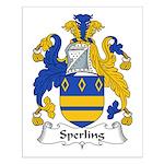 Sperling Family Crest Small Poster