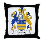 Sperling Family Crest Throw Pillow