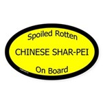 Spoiled Chinese Shar-Pei On Board Oval Sticker
