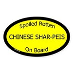 Spoiled Chinese Shar-Peis On Board Oval Sticker