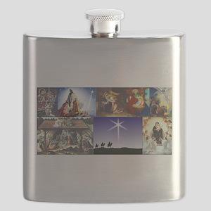 Christmas Nativity Medley Flask