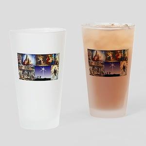 Christmas Nativity Medley Drinking Glass