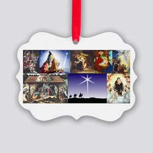 Christmas Nativity Medley Picture Ornament