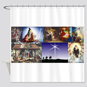Christmas Nativity Medley Shower Curtain