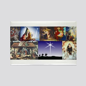 Christmas Nativity Medley Rectangle Magnet
