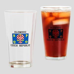 Olomouc, Czech Republic Drinking Glass