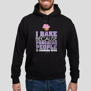 Punching People and Baking Hoodie (dark)