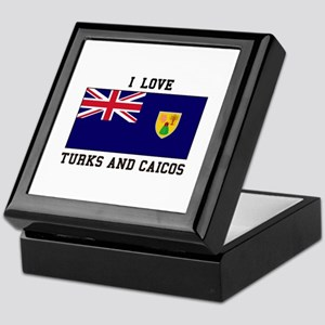 I Love Turks and Caicos Keepsake Box