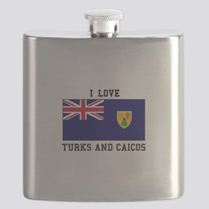 I Love Turks and Caicos Flask