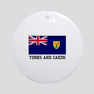 Turks and Caicos Ornament (Round)