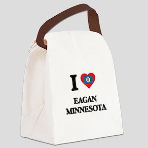 I love Eagan Minnesota Canvas Lunch Bag
