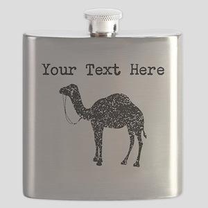 Distressed Camel Silhouette (Custom) Flask
