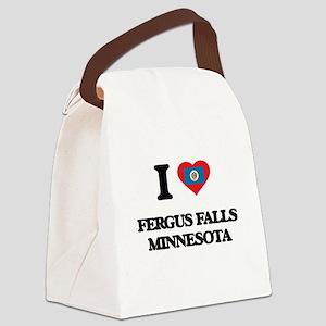 I love Fergus Falls Minnesota Canvas Lunch Bag