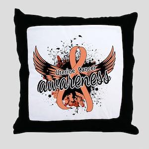 Uterine Cancer Awareness 16 Throw Pillow