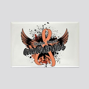 Uterine Cancer Awareness 16 Rectangle Magnet