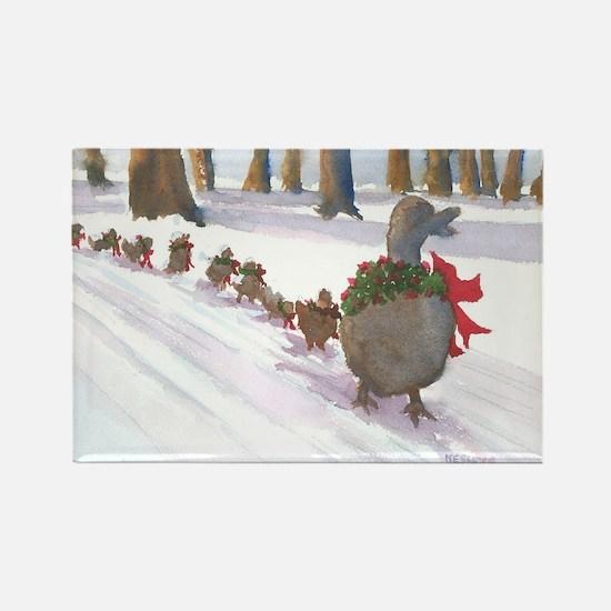 Boston Common Ducks at Christmas Magnets