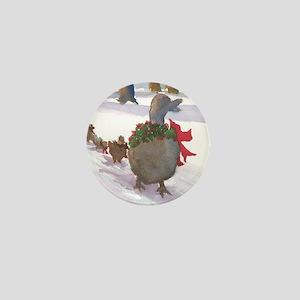 Boston Common Ducks at Christmas Mini Button
