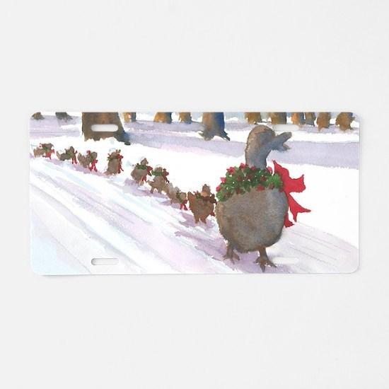 Boston Common Ducks at Chri Aluminum License Plate