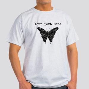 Distressed Butterfly Silhouette (Custom) T-Shirt