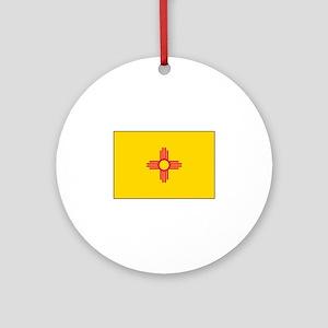New Mexico Flag Ornament (Round)