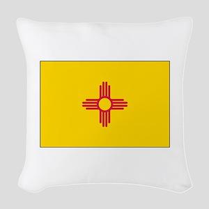 New Mexico Flag Woven Throw Pillow