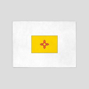New Mexico Flag 5'x7'Area Rug