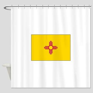 New Mexico Flag Shower Curtain