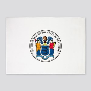 New Jersey State Seal 5'x7'Area Rug