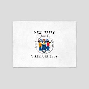 New Jersey Statehood 5'x7'Area Rug